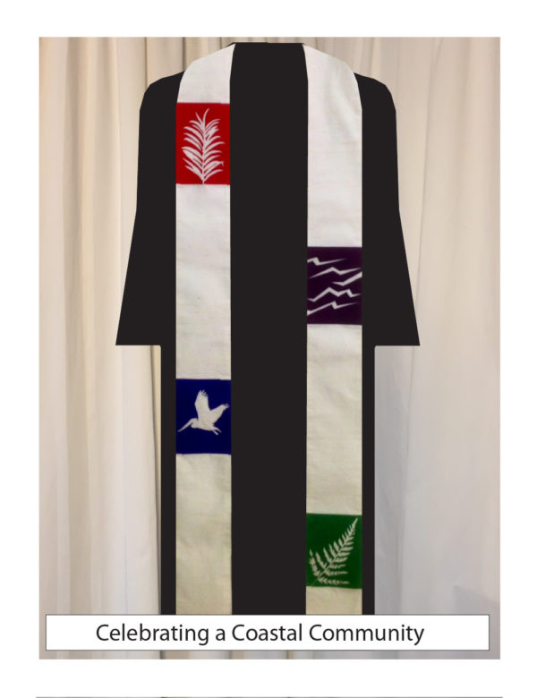 Symbols of coastal life in all the liturgical colors