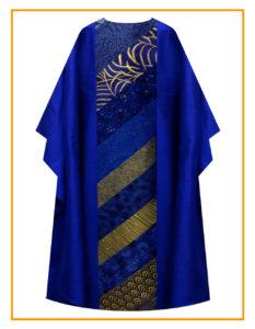 EZ-Order Triumphant Chasuble Cobalt Dupioni